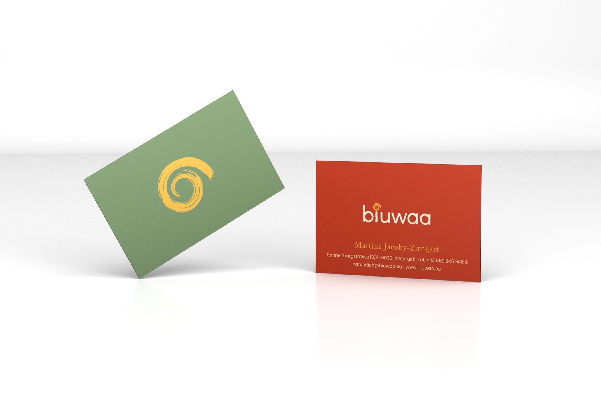 Biuwaa Visitenkarten