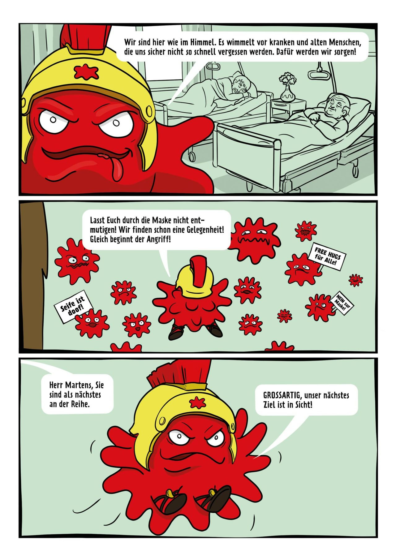 AHA Regeln Comic Sandalenvirus