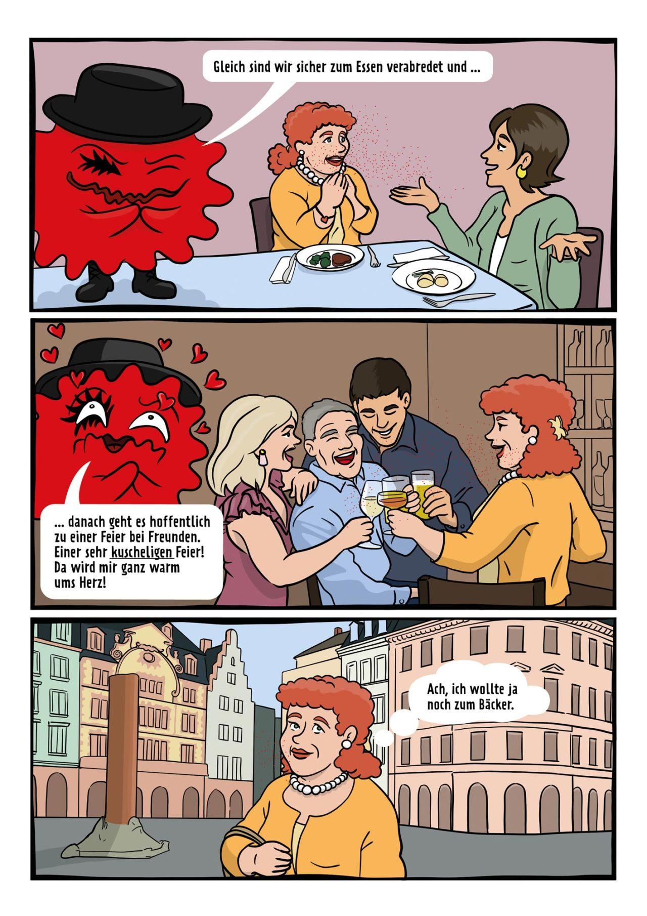 Coronavirus Comic Alltagsmaske